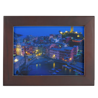 Europe, Italy, Cinque Terre, Vernazza. Hillside Keepsake Box