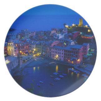 Europe, Italy, Cinque Terre, Vernazza. Hillside Plate