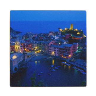 Europe, Italy, Cinque Terre, Vernazza. Hillside Wood Coaster