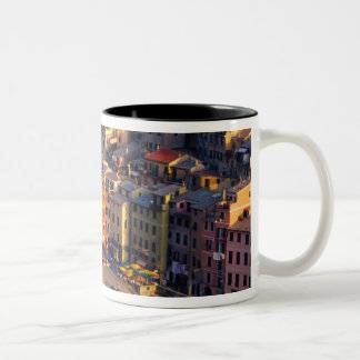 Europe, Italy, Cinque Terre. Village of Vernazza Two-Tone Coffee Mug