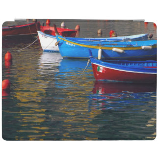 Europe, Italy, Cinque Terry, boats in Vernazza iPad Cover