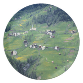 Europe, Italy, Dolomite Alps. This tiny village Plate