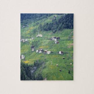 Europe, Italy, Dolomite Alps. This tiny village Puzzles