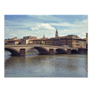 Europe, Italy, Florence. The Arno River flows Photo Art