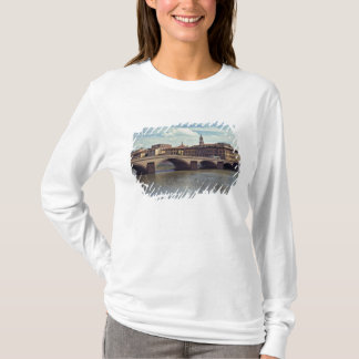 Europe, Italy, Florence. The Arno River flows T-Shirt