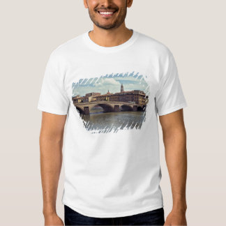 Europe, Italy, Florence. The Arno River flows Tshirts