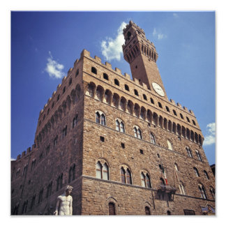 Europe, Italy, Florence. The medieval Plazzo Photo Print