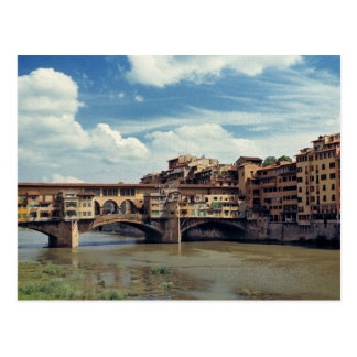 Europe, Italy, Florence. The Ponte Vecchio Postcard