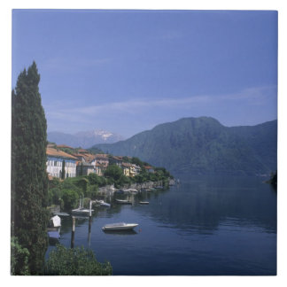 Europe, Italy, Lake Como, Tremezzo. Northern Large Square Tile