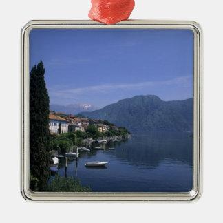 Europe, Italy, Lake Como, Tremezzo. Northern Silver-Colored Square Decoration
