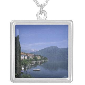 Europe, Italy, Lake Como, Tremezzo. Northern Square Pendant Necklace