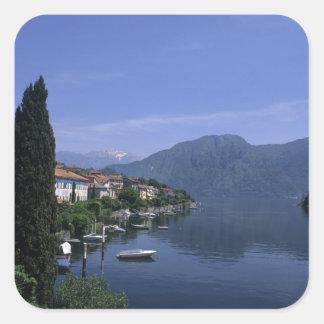 Europe, Italy, Lake Como, Tremezzo. Northern Square Sticker