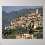 Europe, Italy, Liguria, Apricale. Riviera Di Print