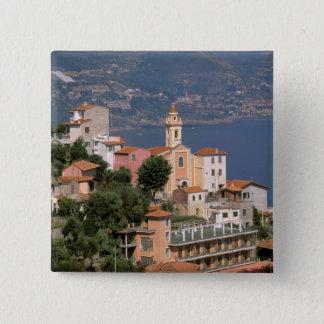 Europe, Italy, Liguria, La Mortola, Riviera di 15 Cm Square Badge