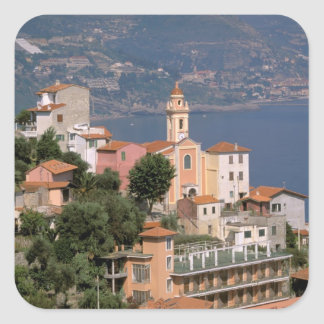Europe, Italy, Liguria, La Mortola, Riviera di Square Sticker