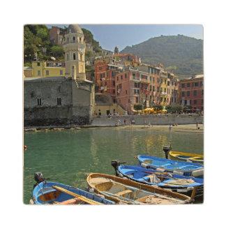 Europe, Italy, Liguria region, Cinque Terre, 2 Maple Wood Coaster