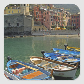 Europe, Italy, Liguria region, Cinque Terre, 2 Square Sticker
