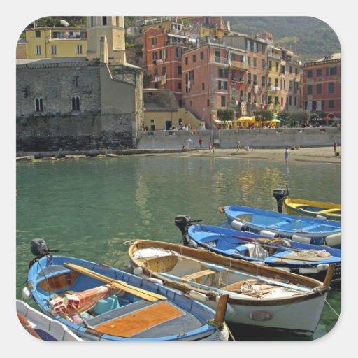Europe, Italy, Liguria region, Cinque Terre, 2 Square Sticker