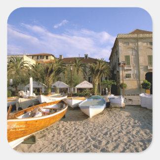 Europe, Italy, Liguria, Riviera di Ponente, 4 Square Sticker