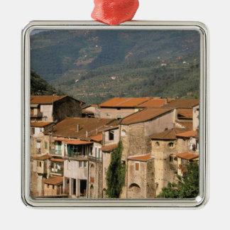 Europe, Italy, Liguria, Riviera di Ponente, Silver-Colored Square Decoration