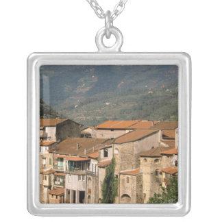 Europe, Italy, Liguria, Riviera di Ponente, Silver Plated Necklace