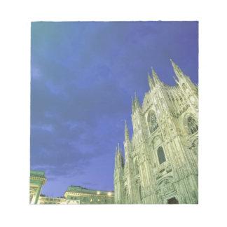Europe, Italy, Lombardia, Milan. The Duomo, Notepad