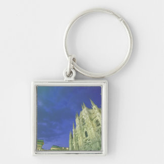 Europe, Italy, Lombardia, Milan. The Duomo, Silver-Colored Square Key Ring