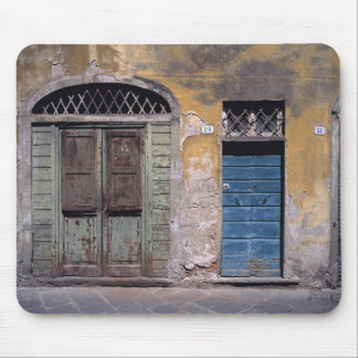 Europe, Italy, Lucca. These old doors add Mouse Pad