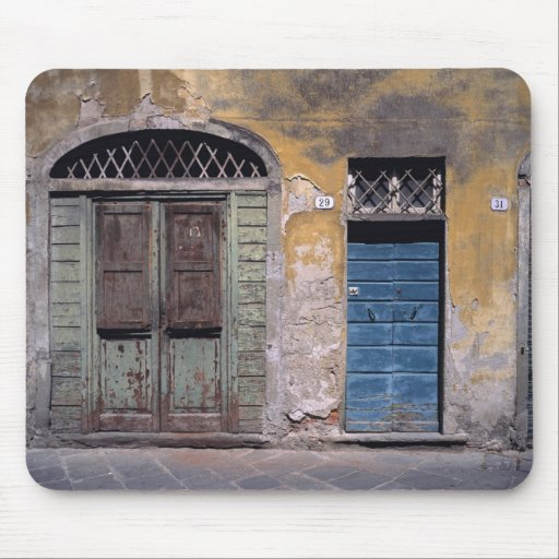 Europe, Italy, Lucca. These old doors add Mouse Pads