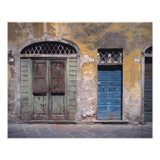 Europe, Italy, Lucca. These old doors add Photograph