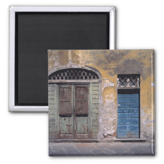 Europe, Italy, Lucca. These old doors add Square Magnet