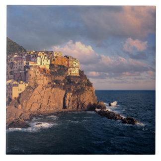 Europe, Italy, Manarola. The cliff-nestled Tile