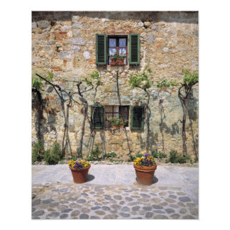 Europe, Italy, Monteriggioni. A stone house is Photographic Print