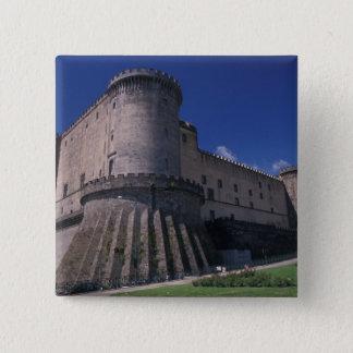 Europe, Italy, Naples, Castle Nuovo 15 Cm Square Badge