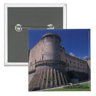 Europe, Italy, Naples, Castle Nuovo 15 Cm Square Badge