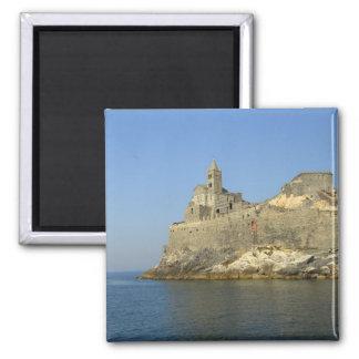 Europe, Italy, Portovenere aka Porto Venere. 2 Square Magnet