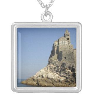 Europe, Italy, Portovenere aka Porto Venere. 3 Silver Plated Necklace
