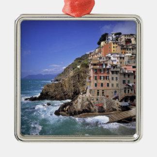 Europe, Italy, Riomaggiore. Riomaggiore is built Christmas Ornament