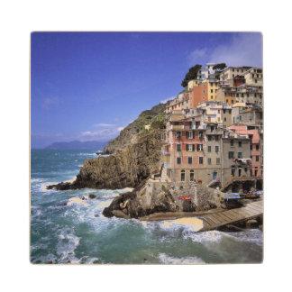 Europe, Italy, Riomaggiore. Riomaggiore is built Maple Wood Coaster
