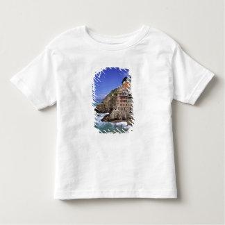 Europe, Italy, Riomaggiore. Riomaggiore is built Shirts