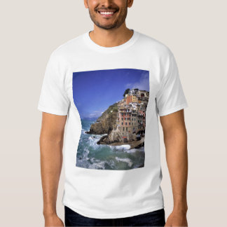 Europe, Italy, Riomaggiore. Riomaggiore is built Tee Shirt