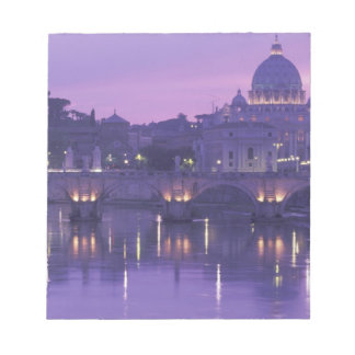 Europe, Italy, Rome. St. Peter's and Ponte Sant Notepad