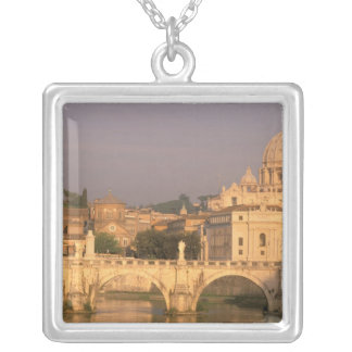 Europe, Italy, Rome, The Vatican. Basilica San Silver Plated Necklace