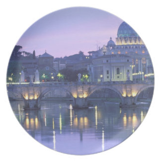 Europe, Italy, Rome, The Vatican. St. Peter's & Dinner Plates