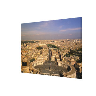 Europe, Italy, Rome, The Vatican. View from St. Canvas Print