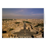 Europe, Italy, Rome, The Vatican. View from St. Greeting Card