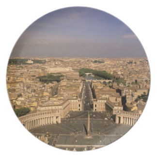 Europe, Italy, Rome, The Vatican. View from St. Plate