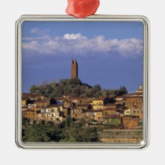 Europe Italy San Miniato Beneath a wide Christmas Tree Ornaments