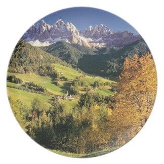 Europe, Italy, Santa Magdalena. The tiny Plate