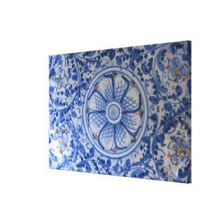 Europe, Italy, Sicily, Taormina. Traditional 3 Canvas Print